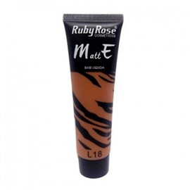 Base Líquida Matte Ruby Rose Cor L18 - 29ml