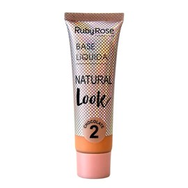 Base Líquida Ruby Rose Natural Look Chocolate 2 HB-8051 - 29ml