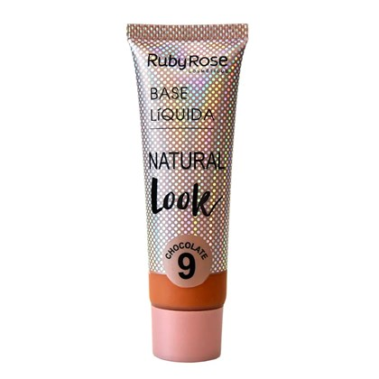 Base Líquida Ruby Rose Natural Look Chocolate 9 HB-8051 - 29ml