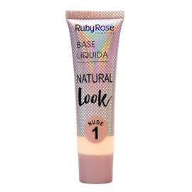 Base Líquida Ruby Rose Natural Look Nude 1 HB-8051 - 29ml