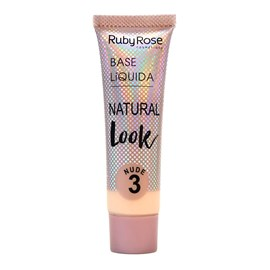 Base Líquida Ruby Rose Natural Look Nude 3 HB-8051 - 29ml