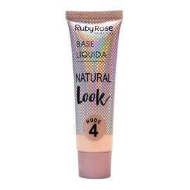 Base Líquida Ruby Rose Natural Look Nude 4 HB-8051 - 29ml