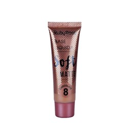 Base Líquida Ruby Rose Soft Matte HB 8050 Cor 8  Chocolate - 29 ml