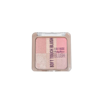 Blush Iluminador Ruby Rose Soft Touch 6 in 1 cor 2  - 0,80g