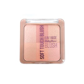 Blush Soft Touch Ruby Rose 6 em 1 Nude HB-6109 Cor 1 - 6,6g