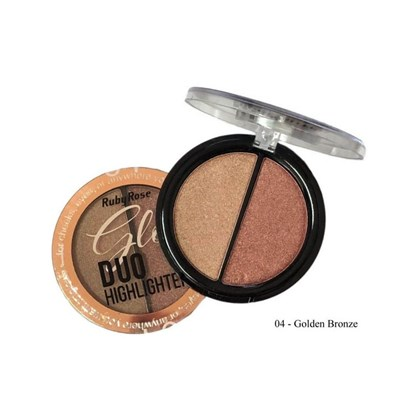 Glow Duo Ruby Rose, Highlighter, cor 04 Golden Bronze HB-7522, 10g
