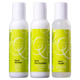 Kit 3 Passos Deva Curl No Poo + One Condition + Angéll - 120ml