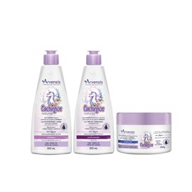 Kit Arvensis Cachinhos Naturais Shampoo + Condicionador 300ml + Máscara 2x1 - 250g