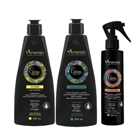 Kit Arvensis Cachos Naturais Condicionador + Co Wash - 300ml + Spray Day After 250ml