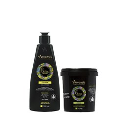 Kit Arvensis Cachos Naturais crespos e crespíssimos Co Wash 300ml + Máscara - 450g