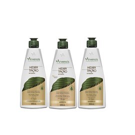 Kit Arvensis Hidratação Intensiva Shampoo + Condicionador 300ml + Leave-In - 200ml