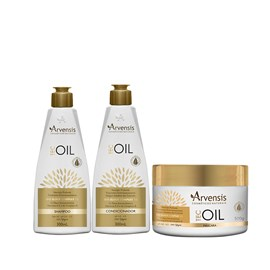 Kit Arvensis Tec Oil Shampoo + Condicionador 300ml + Máscara - 500g