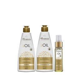 Kit Arvensis Tec Oil Shampoo + Condicionador 300ml + Óleo Reparador - 45ml