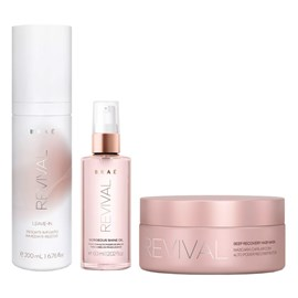 Kit Braé Revival Máscara - 200g + Leave-in - 200ml + Óleo Gorgeous - 60ml