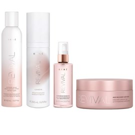 Kit Braé Revival Máscara - 200g + Leave-in - 200ml + Spray - 150ml + Óleo Gorgeous - 60ml