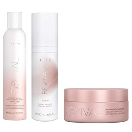 Kit Braé Revival Máscara - 200g + Leave-in - 200ml + Spray Intense Shine - 150ml