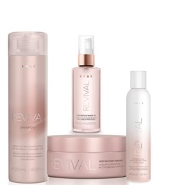 Kit Braé Revival Shampoo 250ml + Máscara 200g + Óleo Gorgeous Shine 60ml + Spray 150ml