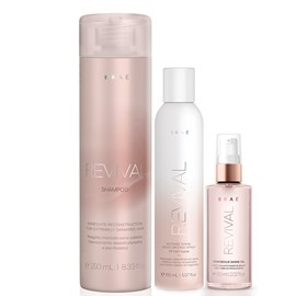 Kit Braé Revival Shampoo 250ml + Spray Intense Shine 150ml + Óleo Gorgeous Shine 60ml