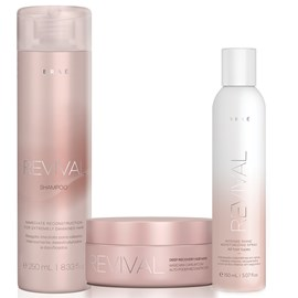 Kit Braé Revival Shampoo + Máscara 200g + Spray Intense Shine 150ml