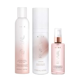 Kit Braé Revival Spray Intense Shine - 150ml + Leave-in - 200ml + Óleo Gorgeous - 60ml