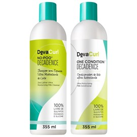 Kit  Deva Curl Decadence Shampoo No Poo + Condicionador One Condition - 355ml