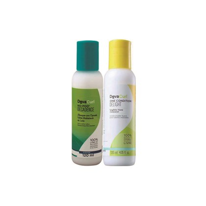 Kit Deva Curl Shampoo Deva Curl Decadence No Poo + Condicionador Deva Curl Delight One Condition - 120ml