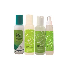 Kit Deva Curl Shampoo Deva Curl Decadence No Poo + Condicionador One Condition + Ativador de Cachos BLeave-in Texture&Volume + Finalizador Deva Curl Mist-er Right - 120ml
