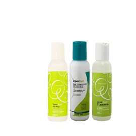 Kit Deva Curl  Shampoo No poo  + Condicionador Deva Curl Decadence One Condition + Ativador de Cachos BLeave-in Texture&Volume 120 ml