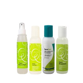 Kit Deva Curl Shampoo No poo  + Condicionador Deva Curl Decadence One Condition + Ativador de Cachos BLeave-in Texture&Volume + Finalizador Deva Curl Mist-er Right 120 ml
