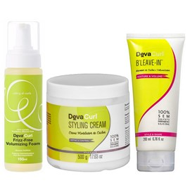 Kit Deva Curl Styling Cream - 500g + Volumizing Foam - 150ml + BLeave-in - 200ml