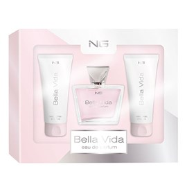 Kit Feminino NG Perfumes Bella Vida Perfume EDP 80ml + Loção Hidratante 100ml + Shower Gel 100ml