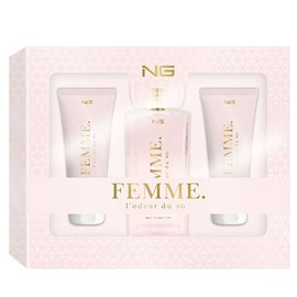 Kit Feminino NG Perfumes L'odeur Du Femme Perfume EDP 100ml + Loção Hidratante 100ml + Shower Gel 20