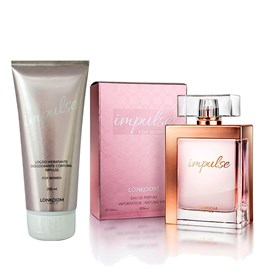 Kit Lonkoom Impulse Perfume Feminino EDP 100ml + Hidratante Corporal 200ml