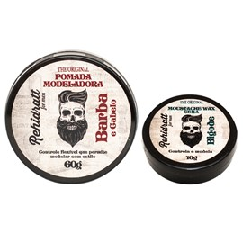 Kit Rehidratt For Men The Original Pomada Modeladora - 60g + Cera Moustache Wax - 10g