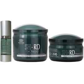Kit SH-RD Máscara Hair Treatment - 400ml + Leave-in - 150ml + Serum Shine - 36ml