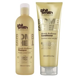 Kit Shampoo 350ml e Condicionador 250ml Phil Smith Bombshell Blonde Radiance