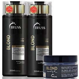 Kit Truss Blond Desamarelador Shampoo + Condicionador 300ml + Máscara 180g