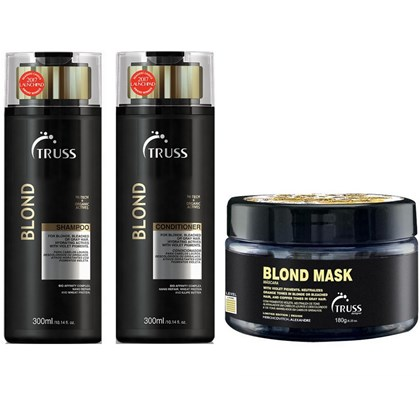 Kit Truss Blond Shampoo + Condicionador Desamarelador - 300ml + Máscara Blond Alexandre Herchcovitch - 180g