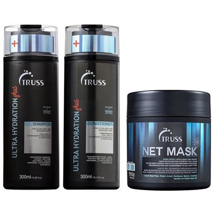 Kit Truss Ultra Hydration Plus Shampoo + Condicionador - 300ml + Máscara Net Mask - 550g
