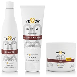 Kit Yellow Nutritive Shampoo - 500ml + Leave-in - 250ml + Máscara - 500ml