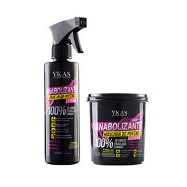 Kit Ykas Anabolizante  Máscara 250g + Leave-In 250ml