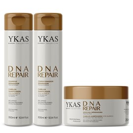 Kit Ykas DNA Repair Shampoo + Condicionador 300ml + Máscara 250g
