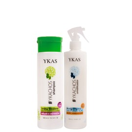 Kit Ykas Ykachos Shampoo Low Poo 300ml + Umidificador No Poo - 500ml