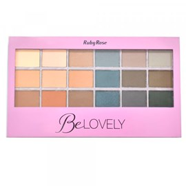 Paleta de Sombras Ruby Rose HB-9932 BeLovely - 18 Cores - 16g